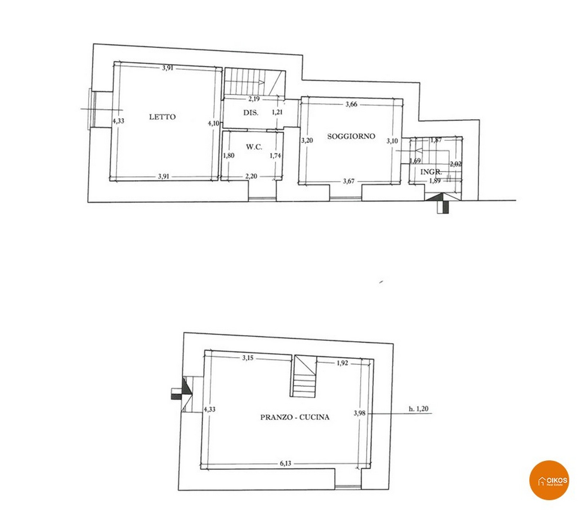 Casa in via Giordano Bruno al centro storico Noto planimetria