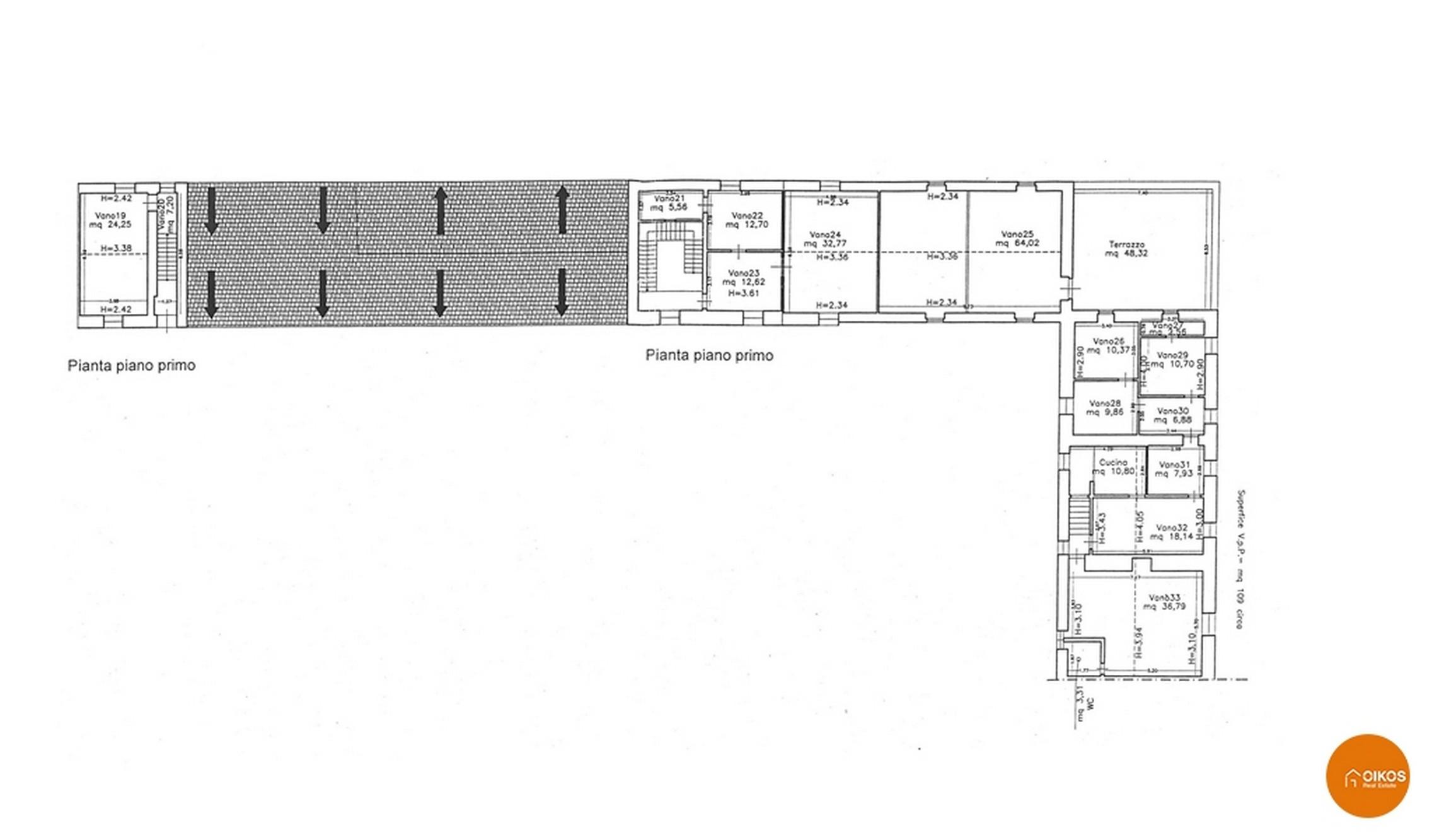 Caseggiato C.da Falconara planimetria primo piano