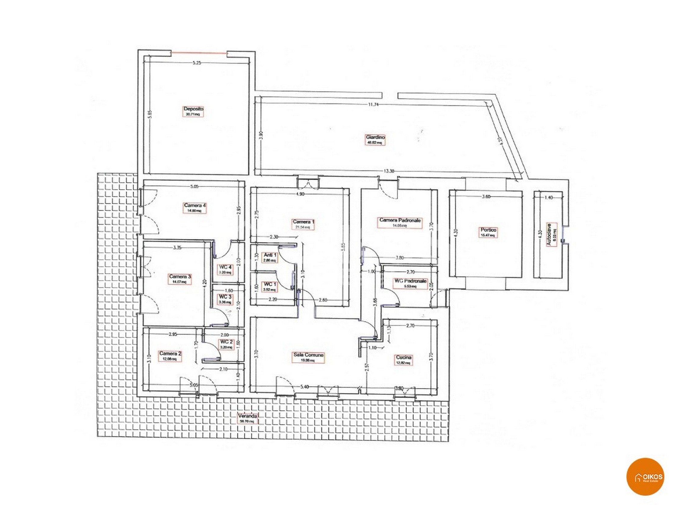 Caseggiato Piano Milo planimetria