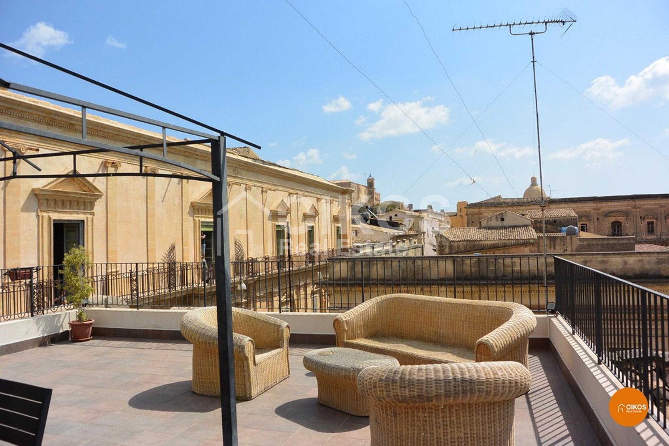 Terrazzo panoramico in Via Cavour a Noto
