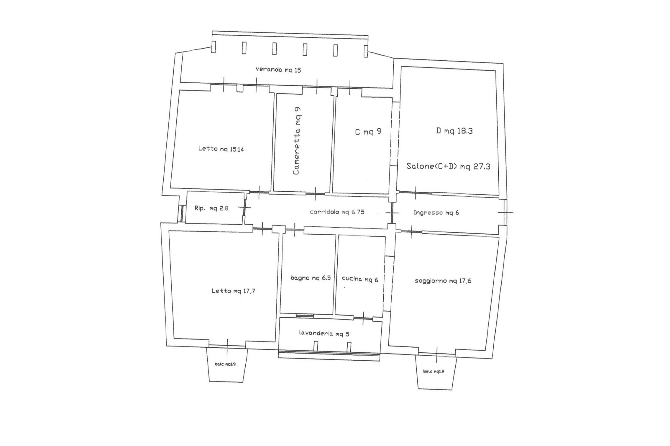 appartamento con garage in via Ugo Lago