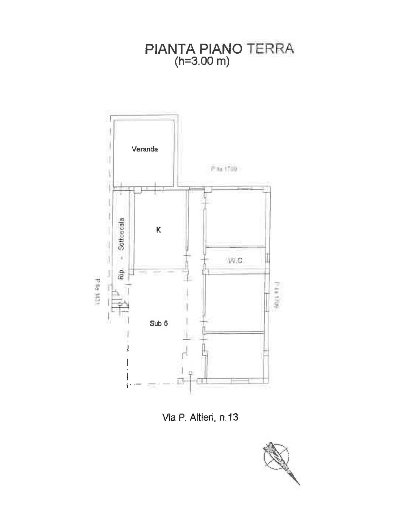 Comodo appartamento in via Altieri 15