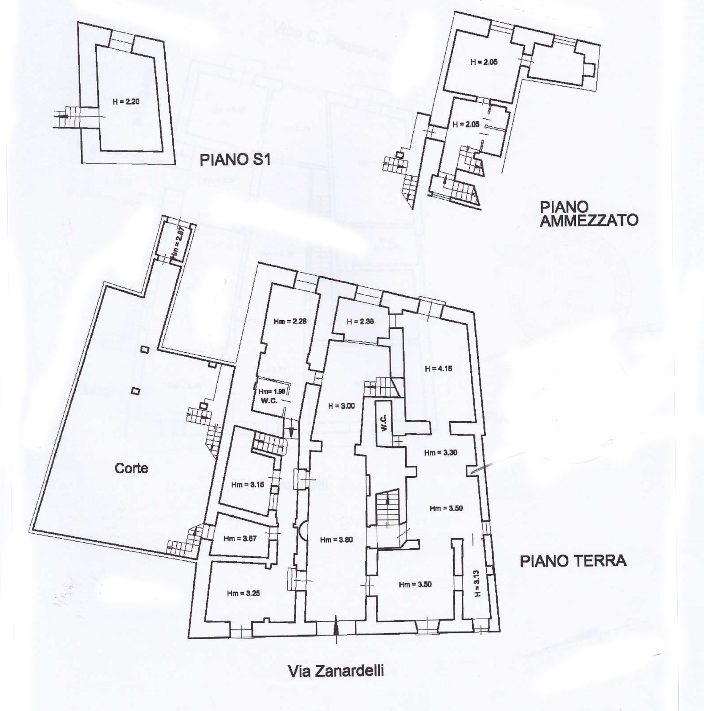 Planimetria via Zanardelli 19 1