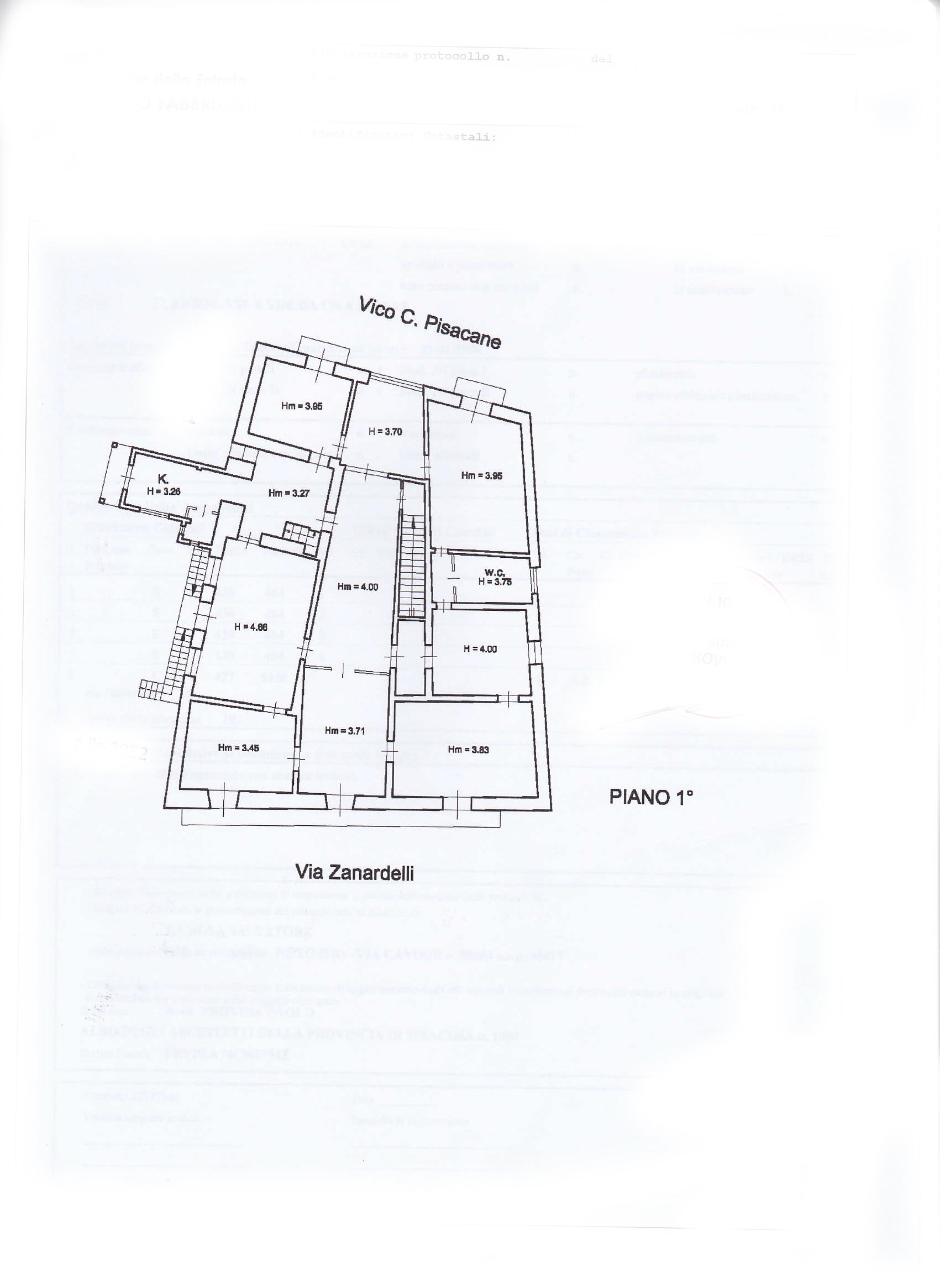 Planimetria via Zanardelli primo piano